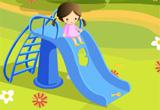 Small Girl Slide Escape